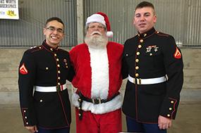 Marines and Santa